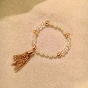 Bead and tassel bracelet
